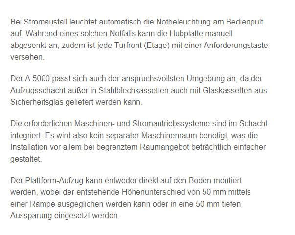 Behindertenlifte in  Bayern